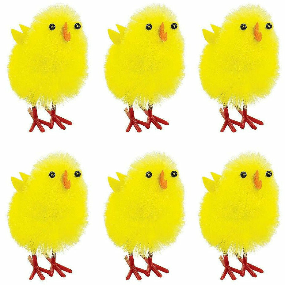 Chenille Easter Chicks 6ct