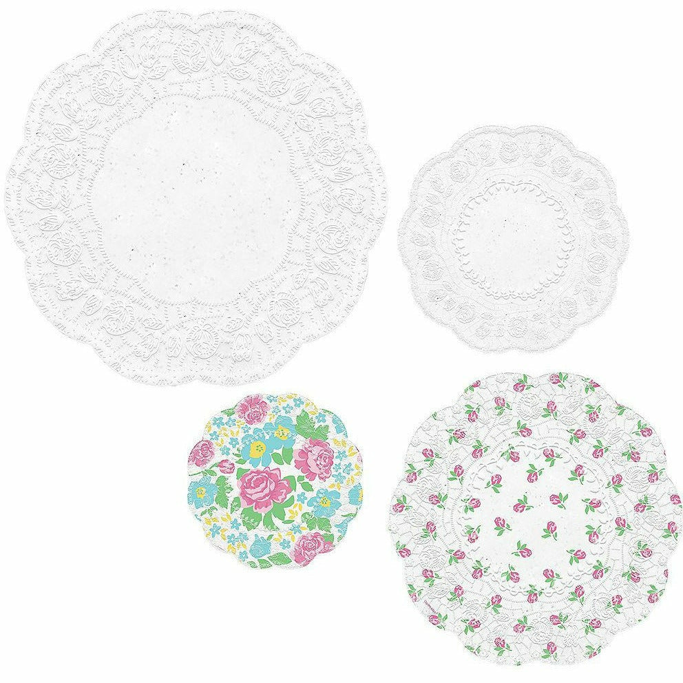 Tea Party Scalloped Doilies 40ct