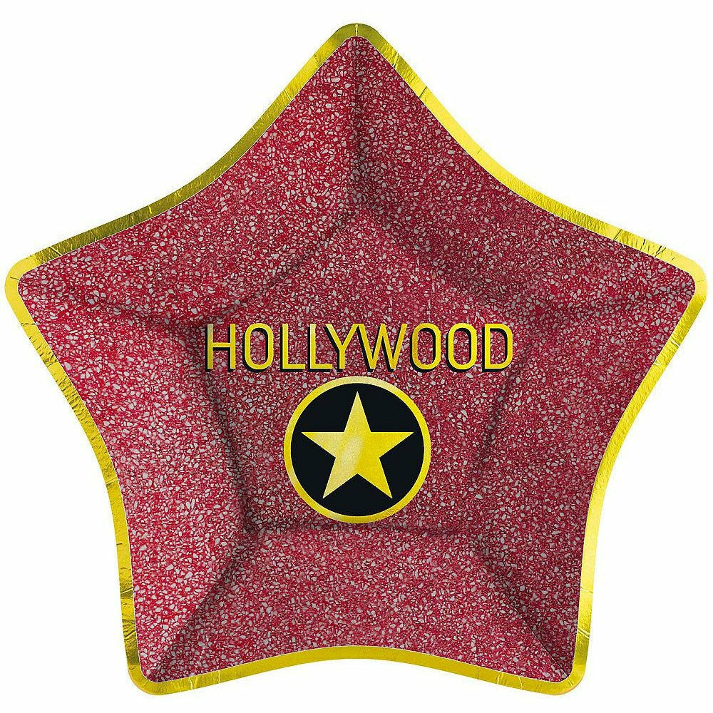 Metallic Hollywood Star Dinner Plates 8ct Q7