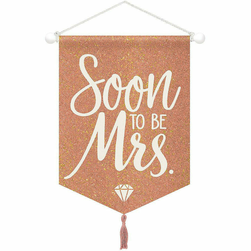 Blush & Rose Gold Soon To Be Mrs. Sign Canvas Sign