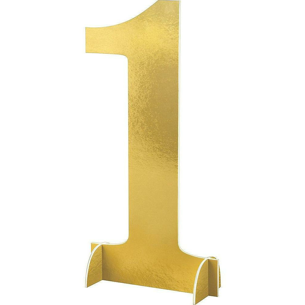 Giant Metallic Gold Number 1 Sign