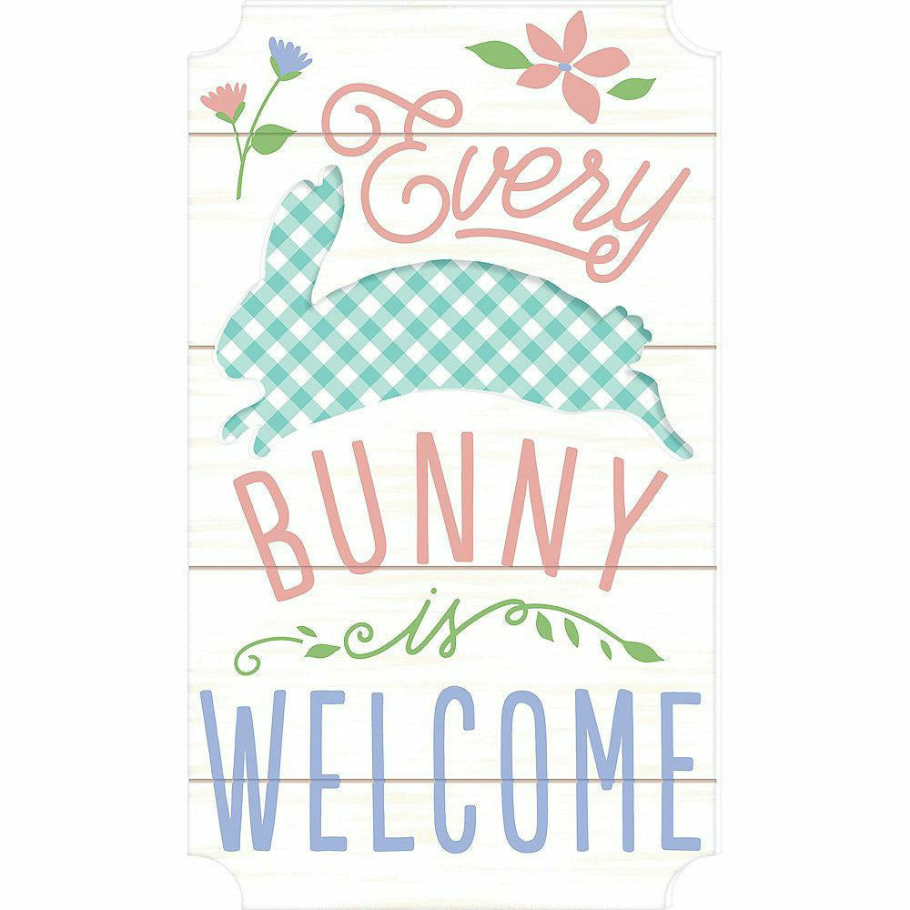 Every Bunny Is Welcome Easel Sign