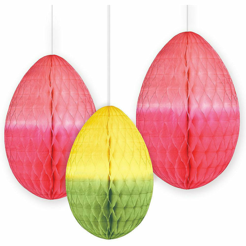 Easter Egg Honeycomb Decorations 3ct