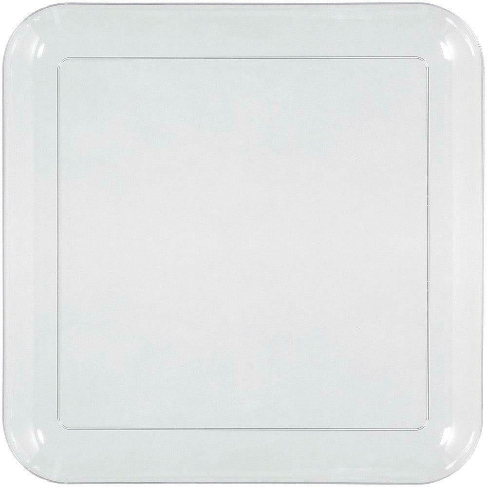 Big Party Pack CLEAR Plastic Square Lunch Plates 24ct