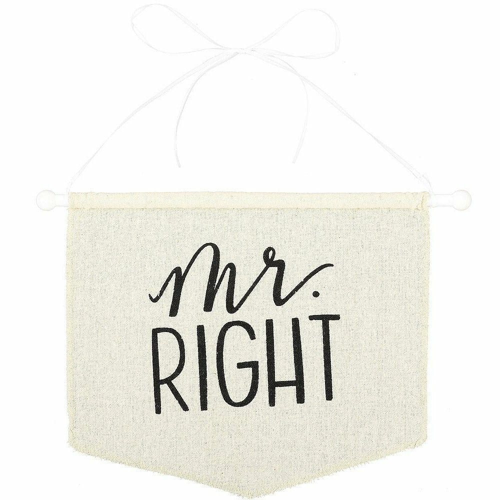 Mr. Right Canvas Chair Sign