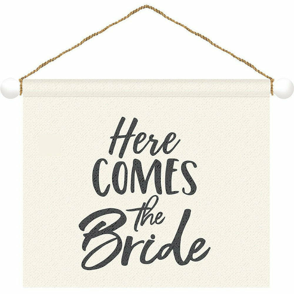 Here Comes the Bride Canvas Sign