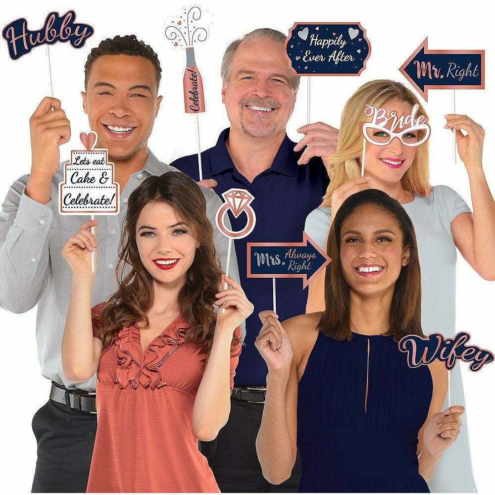 Navy Love Photo Booth Kit with Props 21pc
