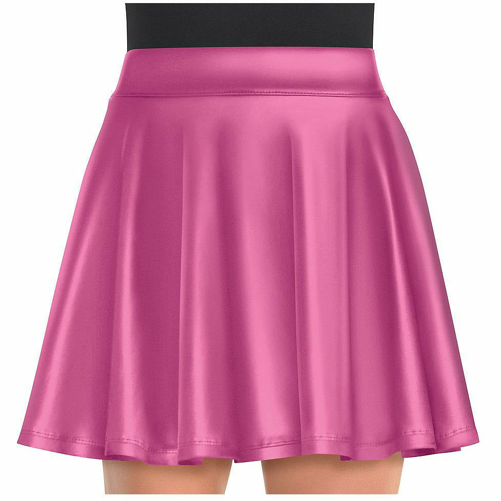 Womens Pink Flare Skirt