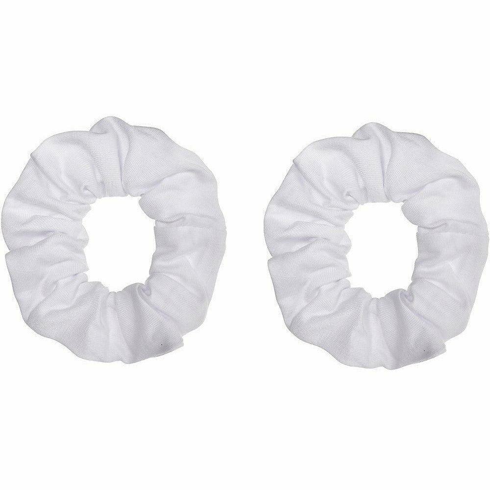 White Hair Scrunchies 2ct