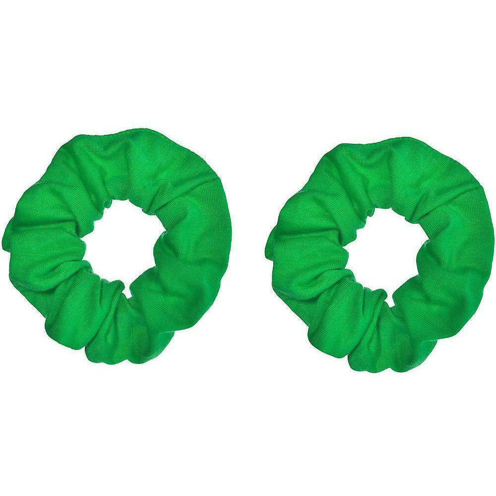 Green Hair Scrunchies 2ct