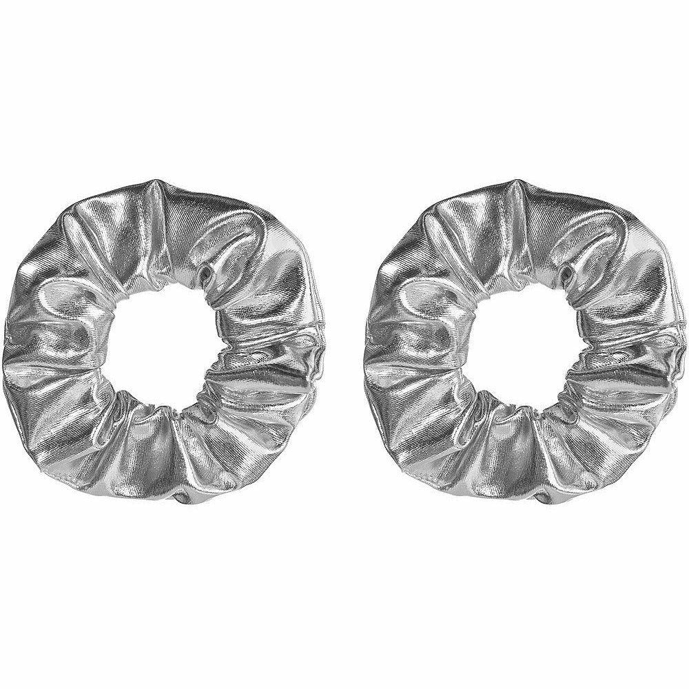 Silver Hair Scrunchies 2ct