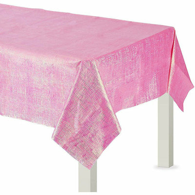 Bright Pink Opalescent Table Cover 54x108