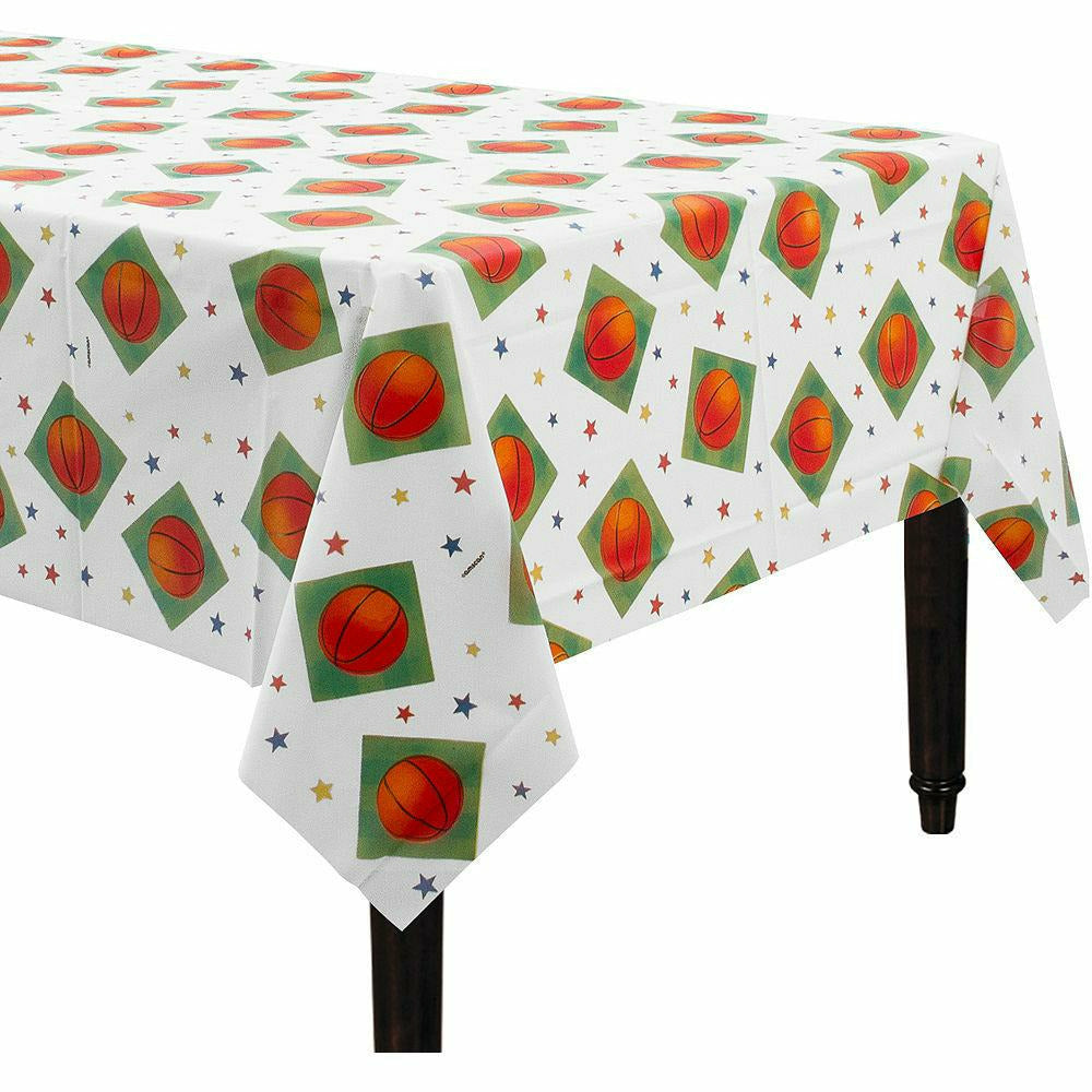 Basketball Plastic Table Cover 54x108