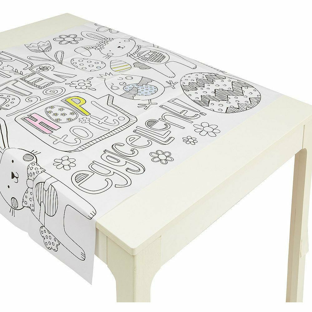 Coloring Easter Paper Table Cover
