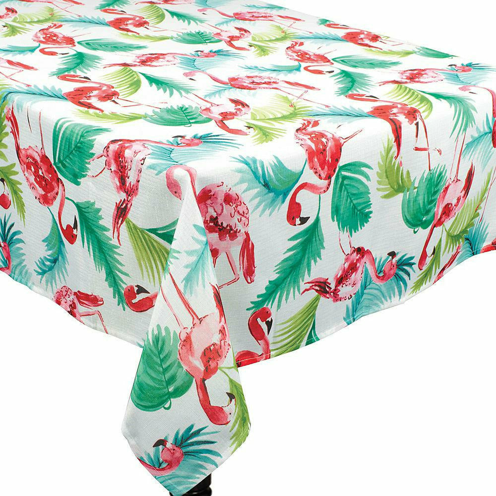 Flamingo Fabric Tablecloth