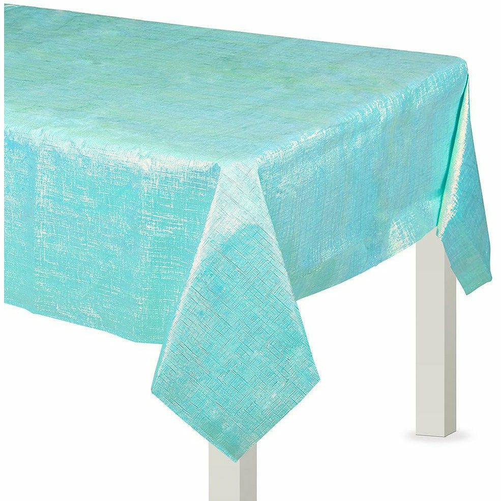 Robin's Egg Blue Opalescent Table Cover