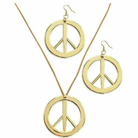 Peace Pendant & Earring Set