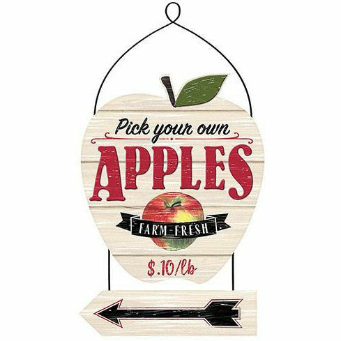 Pick Apples Stacked Sign