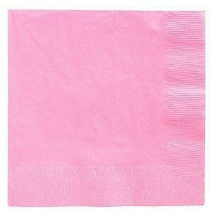 Pink Beverage Napkins 50ct