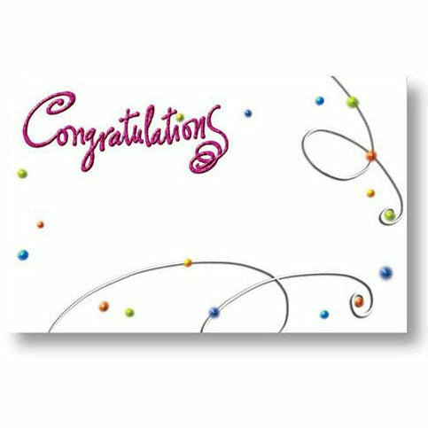 Pink Congratulations Card