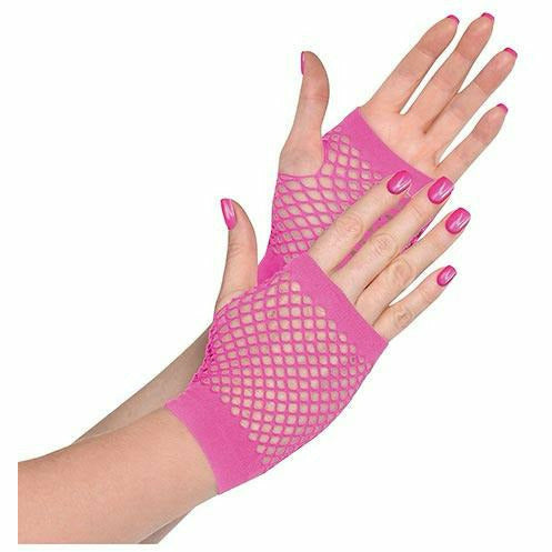 Pink Fishnet Glovelettes
