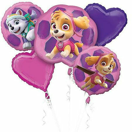 Pink PAW Patrol Balloon Bouquet 5pc