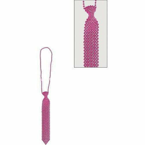 Pink Tie Bead Necklace