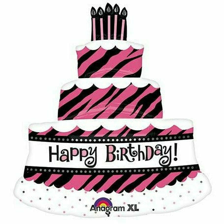 "*A008 Oh So Fabulous Cake Happy Birthday 32"" Mylar Balloon"