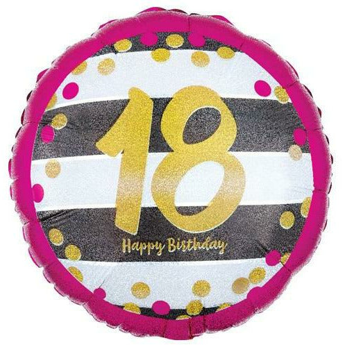 "457 Gold 18 Happy Birthday 18"" Mylar Balloon"