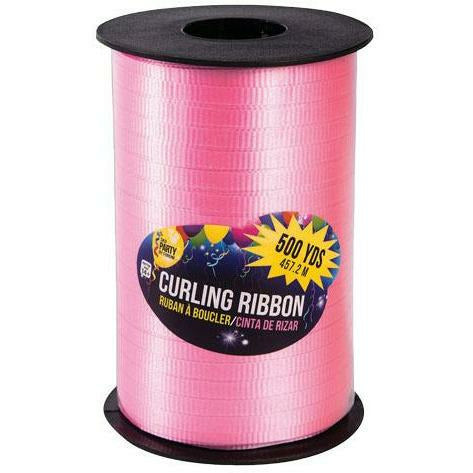 "Pink Curling Ribbon 3/16"" x 500 Yards"