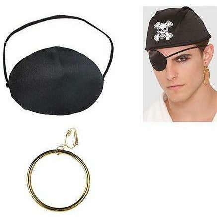 Pirate Earring & Eye Patch Set