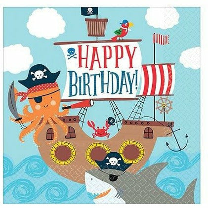 Pirate Shark Lunch Napkins 36ct