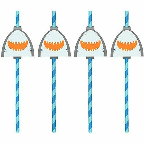 Pirate Shark Straws 12ct
