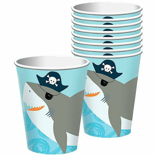Pirate Shark Cups 8ct