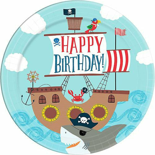 Pirate Shark Lunch Plates 18ct