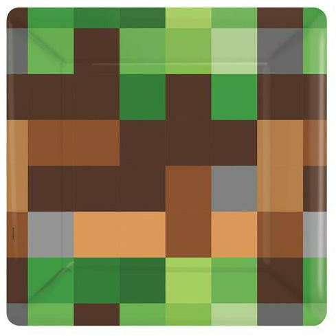 Pixelated Dessert Plates 8ct