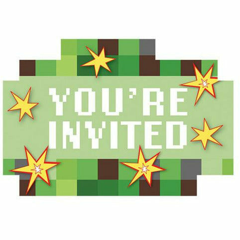 Pixelated Invitations 8ct