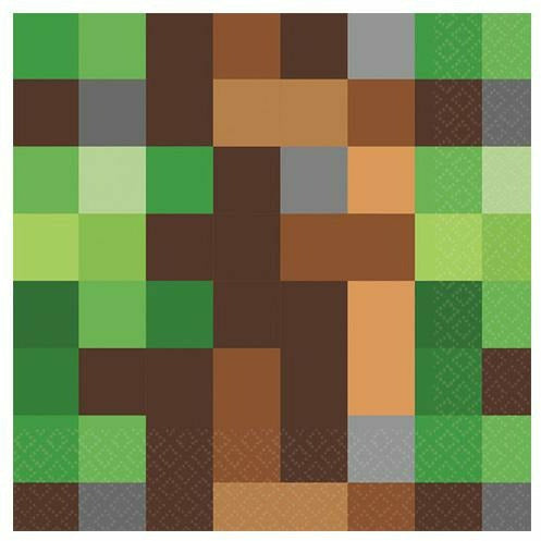 Pixelated Lunch Napkins 16ct