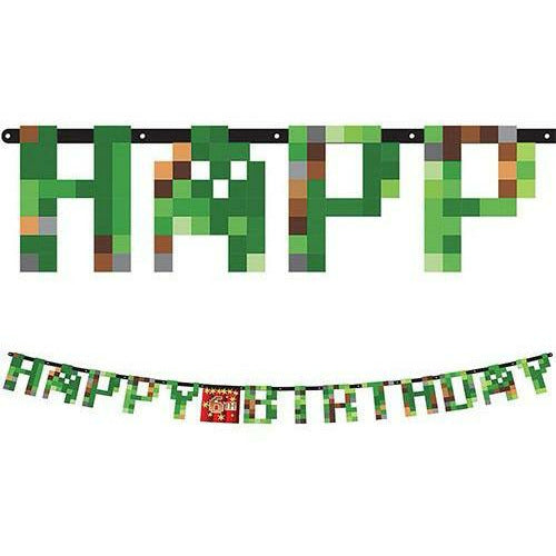 Pixelated Birthday Banner Kit