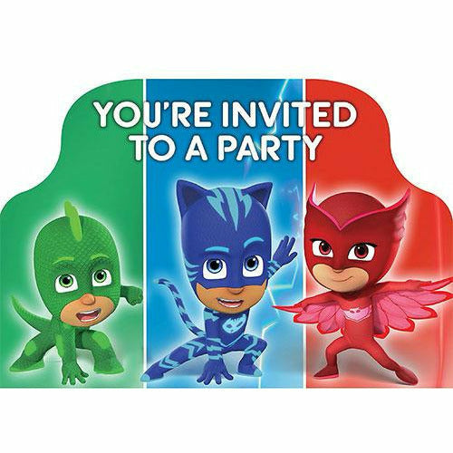 PJ Masks Invitations 8ct