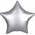 "001 Platinum Luxe Star 19"" Mylar Balloon"