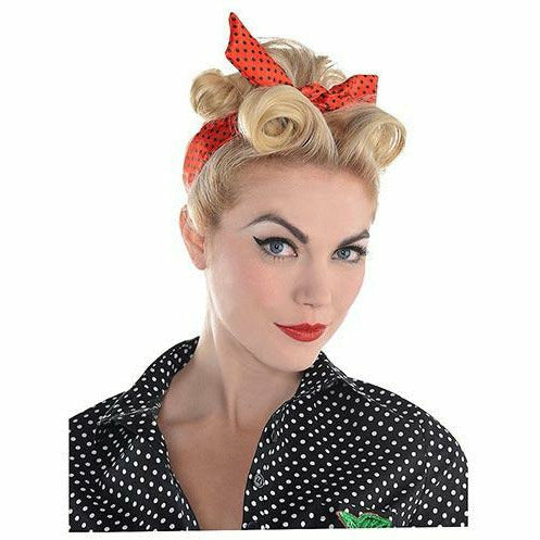 Polka Dot Rockabilly Headscarf