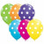 "Big White Polka Dots Mixed Assortment 5"" Latex Balloon"