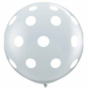 White Polka Dots Clear 36
