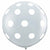 "White Polka Dots Clear 36"" Latex Balloon"