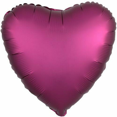 "030 Pomegranate HX Luxe Heart 19"" Mylar Balloon"