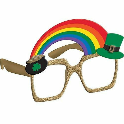 Pot of Gold & Rainbow St. Patrick's Day Glasses
