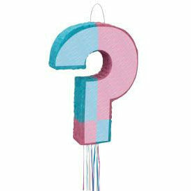 Gender Reveal Baby Shower Pinata, Pull String