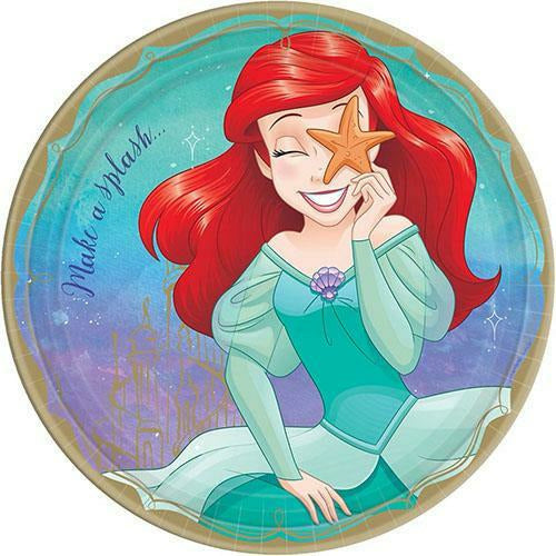 Princess Ariel Lunch Plates 8ct