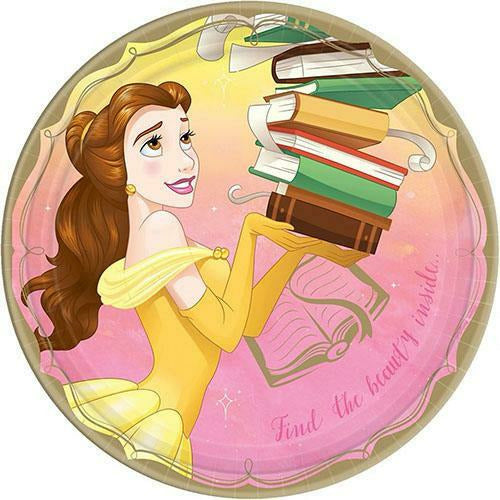Princess Belle Lunch Plates 8ct
